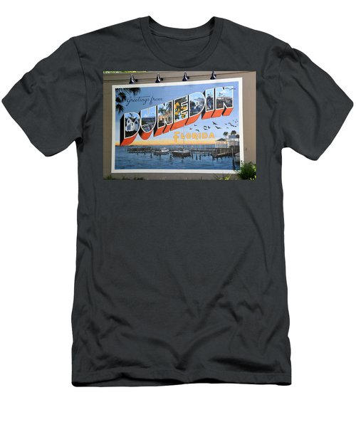 Dunedin Florida Post Card Men's T-Shirt (Athletic Fit)