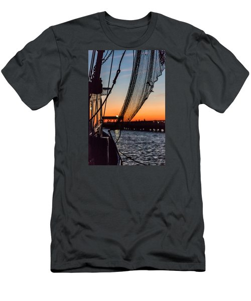 Dusk At Shem Creek Pier In Mt. Pleasant, Sc Men's T-Shirt (Athletic Fit)