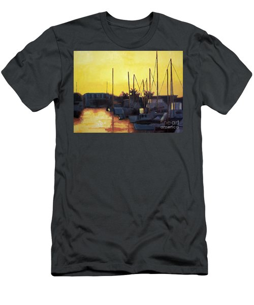 Dusk At The Marina Men's T-Shirt (Athletic Fit)