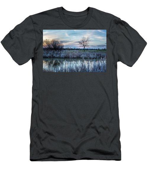 Dusk At The Pond Men's T-Shirt (Athletic Fit)
