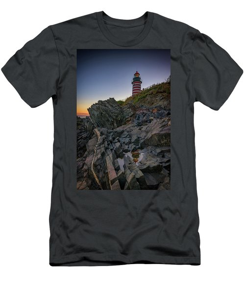 Men's T-Shirt (Athletic Fit) featuring the photograph Dusk At West Quoddy Head Lighthouse by Rick Berk