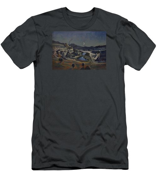 Men's T-Shirt (Slim Fit) featuring the painting Dusk Over The Sint Pietersberg by Nop Briex