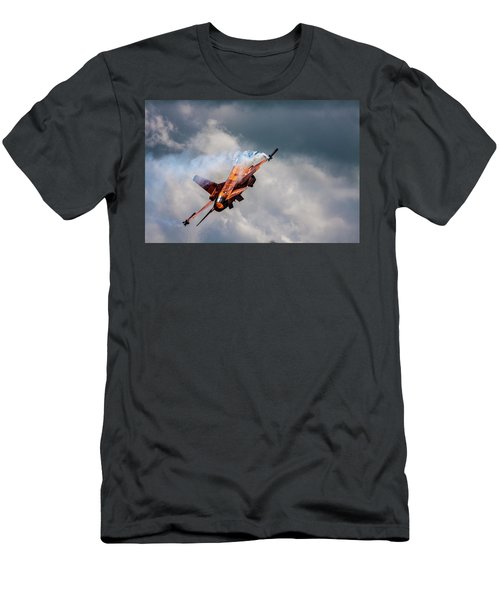 Dutch F16 Take Off At Waddington Men's T-Shirt (Athletic Fit)