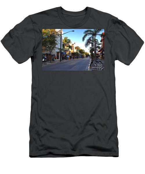 Duval Street In Key West Men's T-Shirt (Athletic Fit)