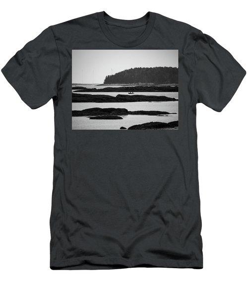 Dwon East Maine  Men's T-Shirt (Athletic Fit)