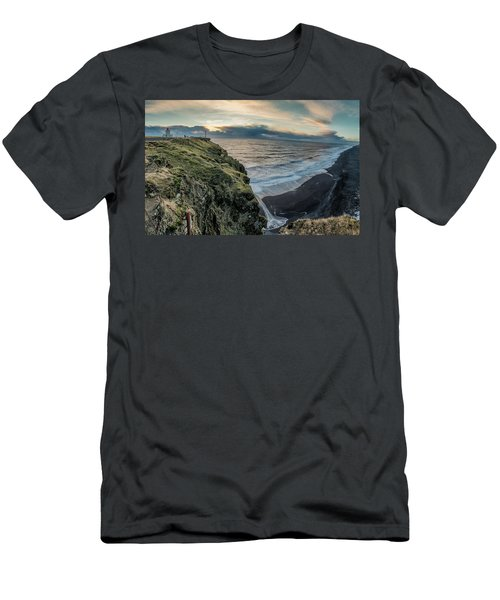 Dyrholaey Light House Men's T-Shirt (Slim Fit) by Allen Biedrzycki