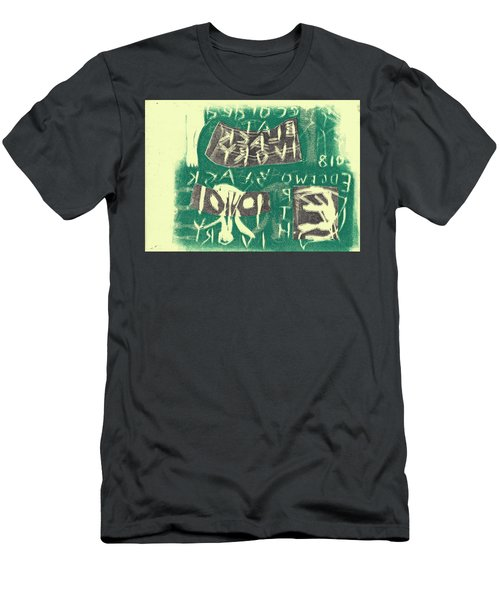 E Cd Grey And Green Men's T-Shirt (Athletic Fit)