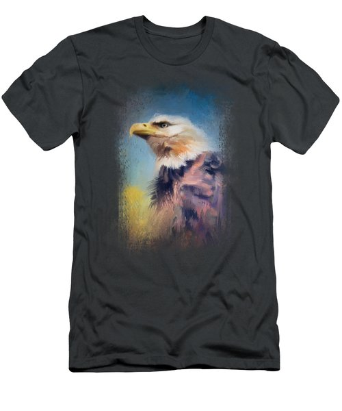 Eagle On Guard Men's T-Shirt (Athletic Fit)