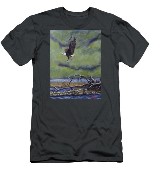 Eagle River Men's T-Shirt (Slim Fit) by Dan Wagner
