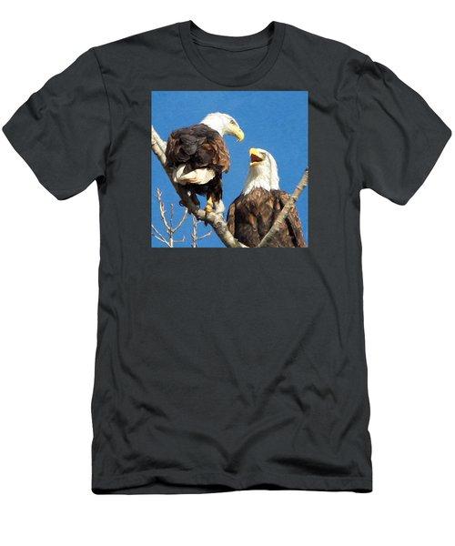Eagles - Grafton, Illinois Men's T-Shirt (Slim Fit) by John Freidenberg