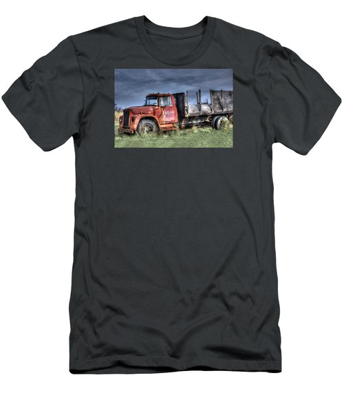Men's T-Shirt (Slim Fit) featuring the photograph Earl Latsha Lumber Company Version 2  by Shelley Neff