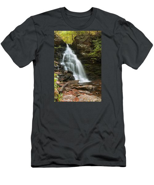 Men's T-Shirt (Slim Fit) featuring the photograph Early Autumn Morning Below Ozone Falls by Gene Walls
