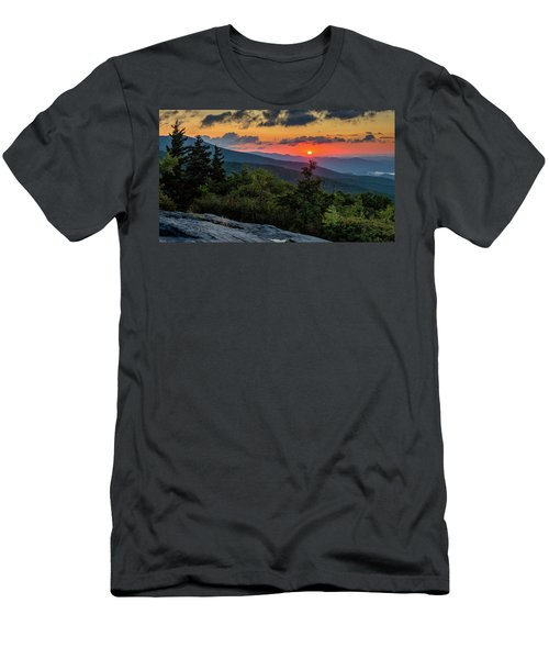 Blue Ridge Parkway Sunrise - Beacon Heights - North Carolina Men's T-Shirt (Athletic Fit)