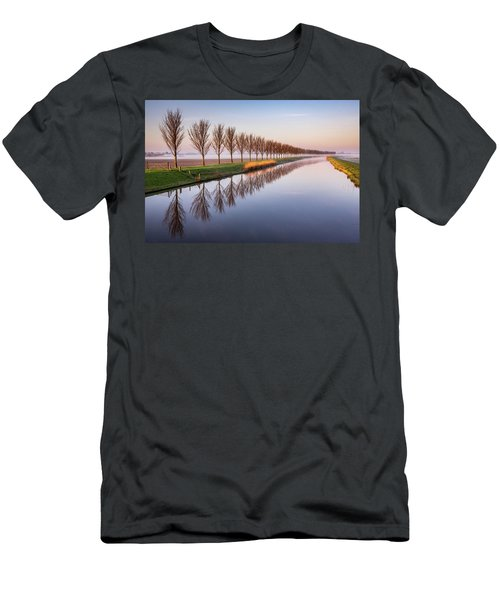 Men's T-Shirt (Athletic Fit) featuring the photograph Early Morning By The Canal by Susan Leonard