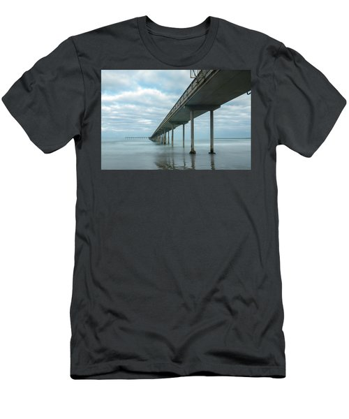 Early Morning By The Ocean Beach Pier Men's T-Shirt (Athletic Fit)