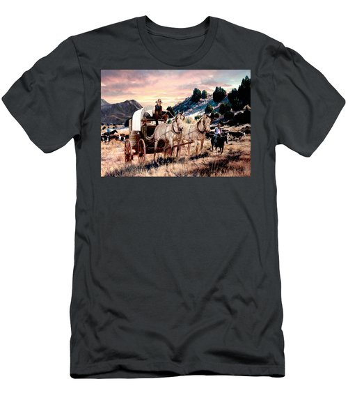 Early Morning Drive Men's T-Shirt (Slim Fit) by Ron Chambers