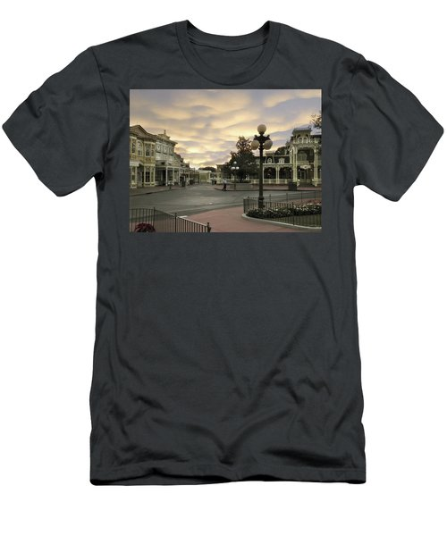 Early Morning Magic Kingdom Walt Disney World Men's T-Shirt (Athletic Fit)