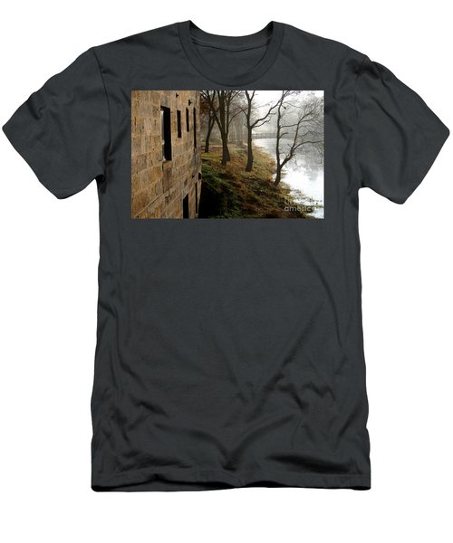 Men's T-Shirt (Slim Fit) featuring the photograph Early Morning Mist  by Paula Guttilla