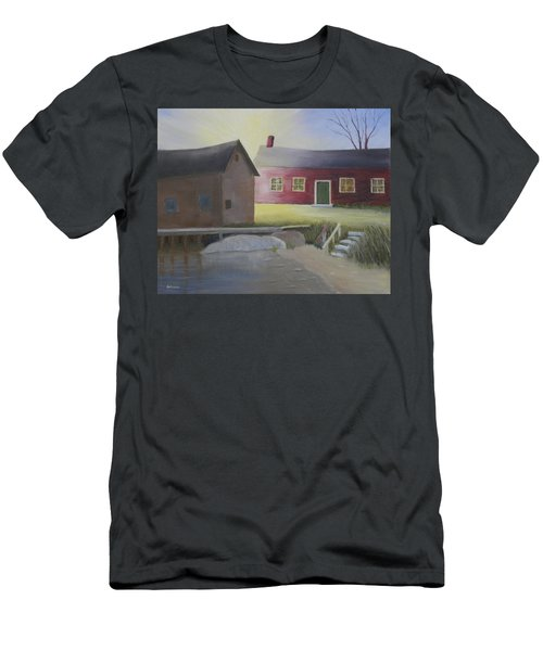 Early Morning Sun At The Shop Men's T-Shirt (Athletic Fit)