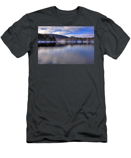Early Snow On West Lake Men's T-Shirt (Slim Fit) by David Patterson