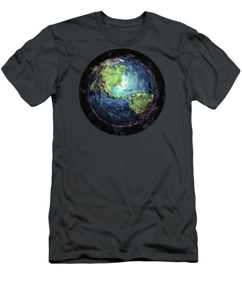 Earth And Space Men's T-Shirt (Slim Fit) by Phil Perkins