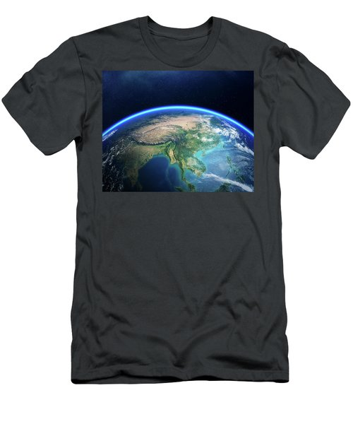 Earth From Space Asia View Men's T-Shirt (Athletic Fit)