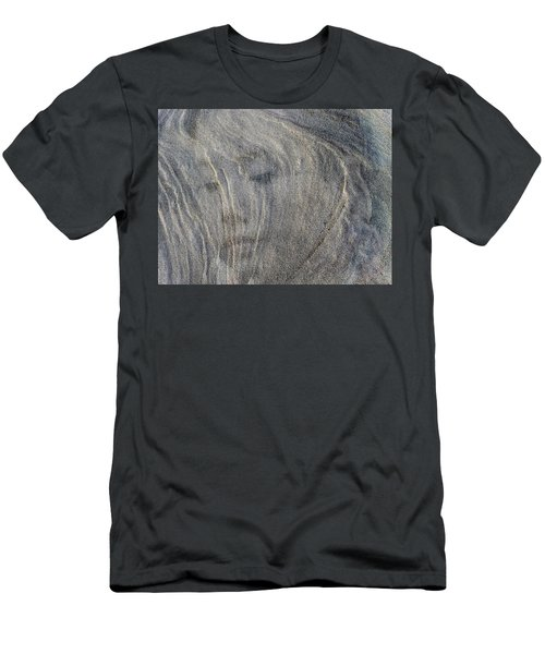 Men's T-Shirt (Slim Fit) featuring the photograph Earth Memories - Sleeping River # 3 by Ed Hall