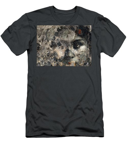 Men's T-Shirt (Slim Fit) featuring the photograph Earth Memories - Stone # 7 by Ed Hall
