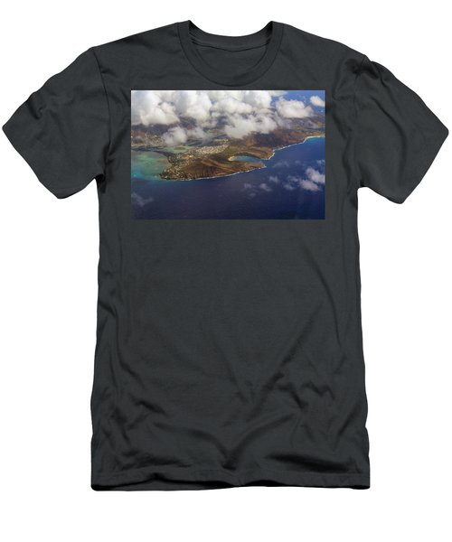 East Oahu From The Air Men's T-Shirt (Athletic Fit)