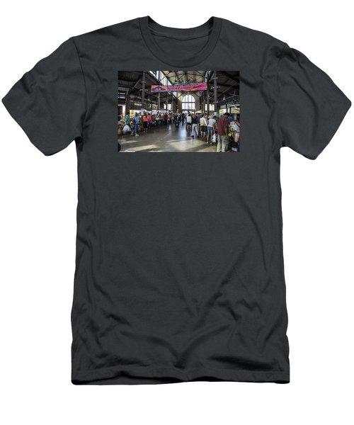 Eastern Market Detroit Saturday  Men's T-Shirt (Slim Fit) by John McGraw