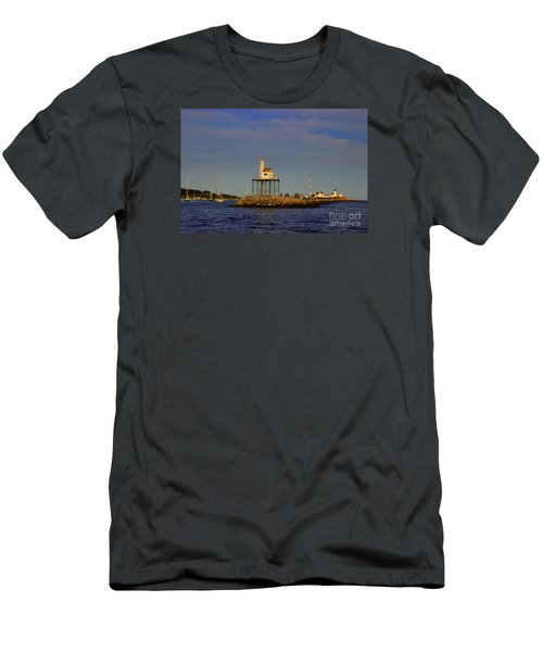 Eastern  Point Light Men's T-Shirt (Athletic Fit)