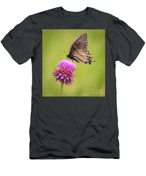 Men's T-Shirt (Athletic Fit) featuring the photograph Eastern Tiger Swallowtail Dark Form  by Ricky L Jones
