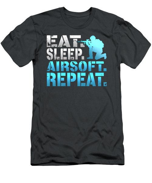 Eat Sleep Airsoft Repeat Men's T-Shirt (Athletic Fit)