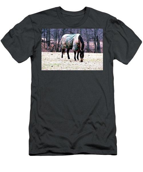 Eatin' Snowy Grass Men's T-Shirt (Athletic Fit)