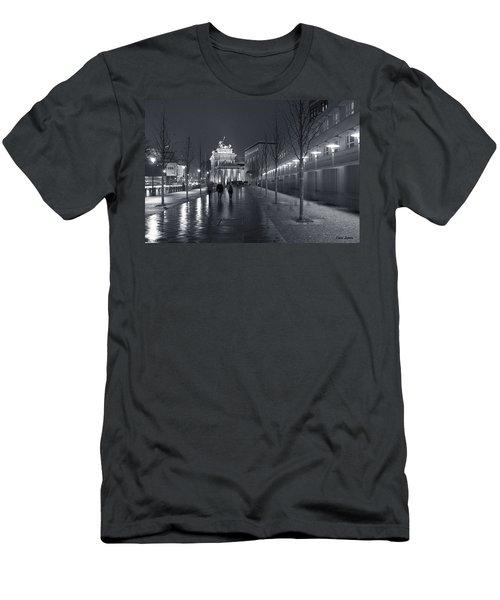 Ebertstrasse And The Brandenburg Gate Men's T-Shirt (Athletic Fit)