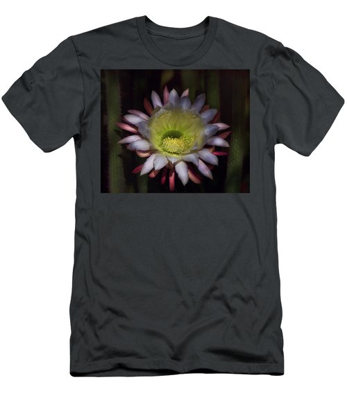 Men's T-Shirt (Athletic Fit) featuring the photograph Echinopsis At Dawn's First Light  by Saija Lehtonen