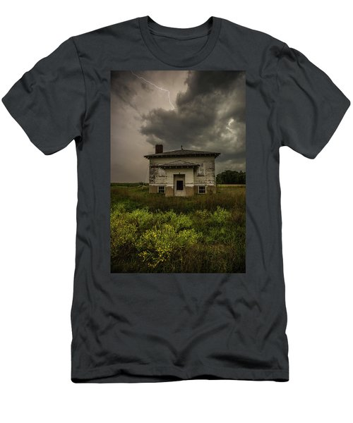 Men's T-Shirt (Athletic Fit) featuring the photograph Eclipse Apocalypse by Aaron J Groen