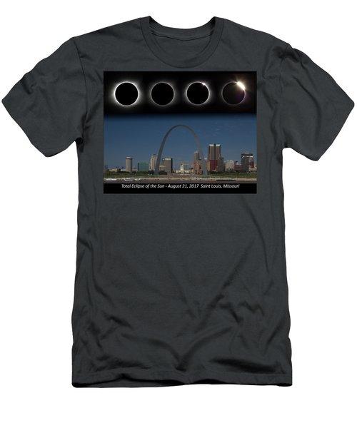 Eclipse - St Louis Skyline Men's T-Shirt (Athletic Fit)