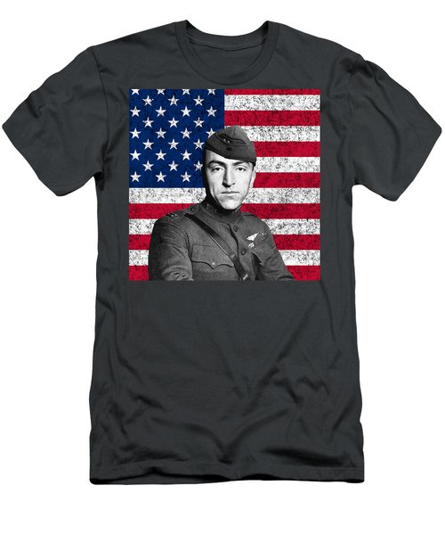 Eddie Rickenbacker And The American Flag Men's T-Shirt (Athletic Fit)