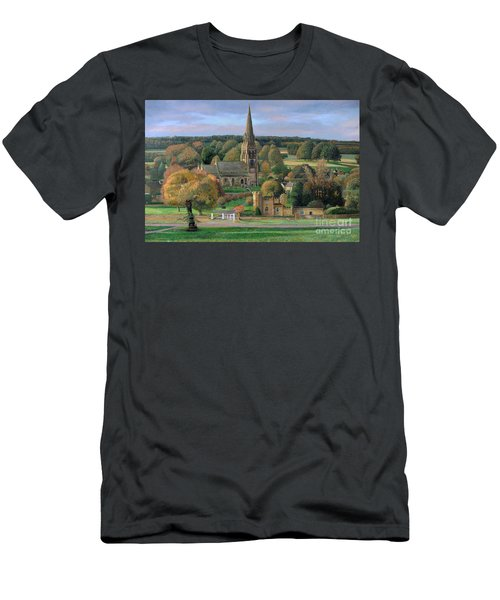 Edensor - Chatsworth Park - Derbyshire Men's T-Shirt (Athletic Fit)
