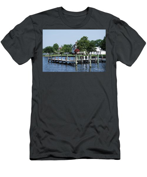 Edenton Waterfront Men's T-Shirt (Slim Fit) by Gordon Mooneyhan
