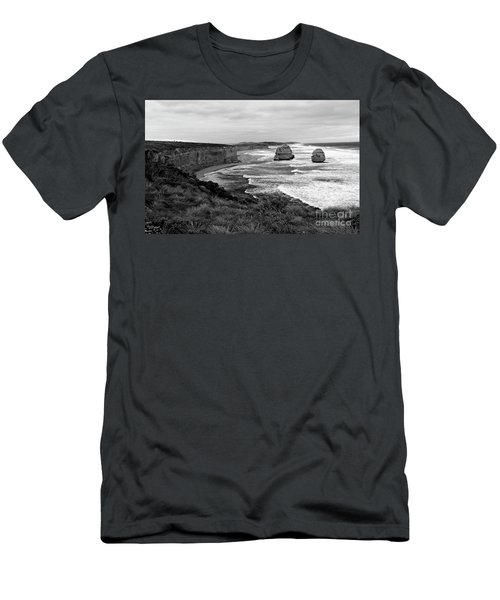 Edge Of A Continent Bw Men's T-Shirt (Athletic Fit)
