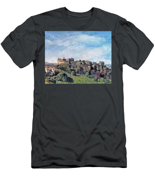 Edinburgh Castle Bright Men's T-Shirt (Athletic Fit)