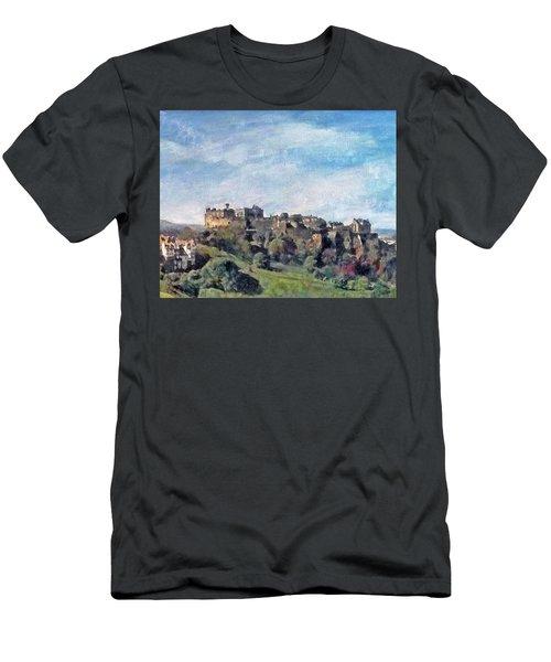 Edinburgh Castle Bright Men's T-Shirt (Athletic Fit)