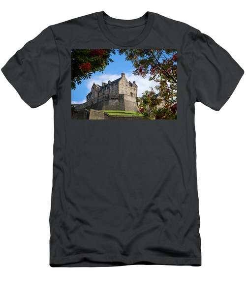 Men's T-Shirt (Athletic Fit) featuring the photograph Edinburgh Castle by RKAB Works