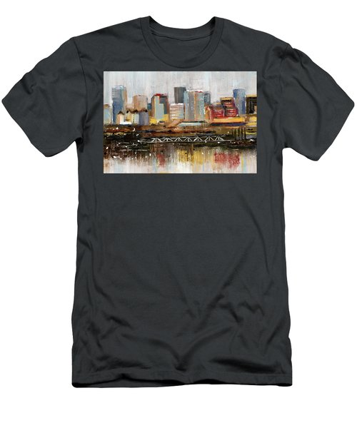 Edmonton Skyline Abstract1 Men's T-Shirt (Athletic Fit)