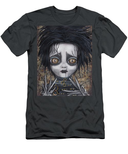 Edward Scissorhands Men's T-Shirt (Slim Fit) by Abril Andrade Griffith