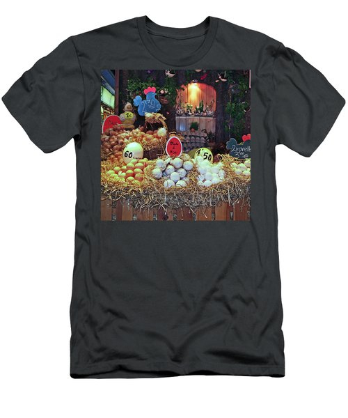 Men's T-Shirt (Slim Fit) featuring the photograph Eggs In Market by Haleh Mahbod