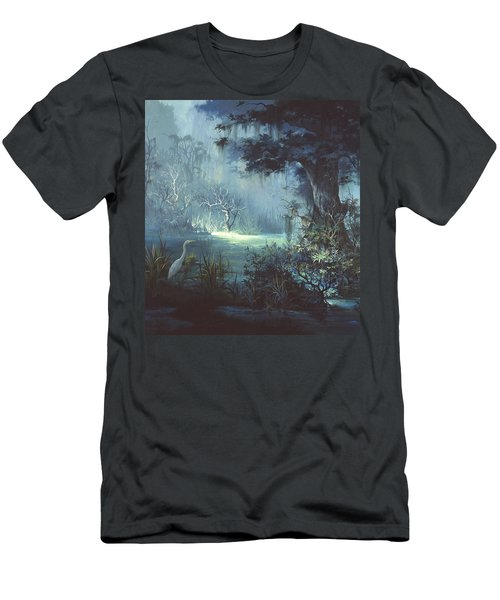 Egret In The Shadows Men's T-Shirt (Slim Fit) by Michael Humphries