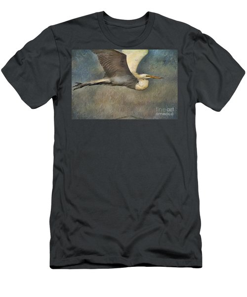 Egret Journey Men's T-Shirt (Athletic Fit)